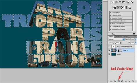 tutorial photoshop vector mask how to make a see through to image text effect in