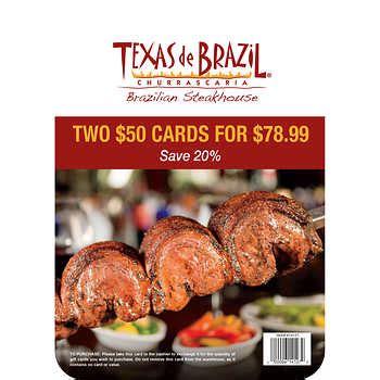 Texas De Brazil Gift Card Costco - gift cards