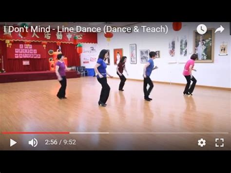 dance tutorial i don t mind i don t mind line dance dance teach youtube