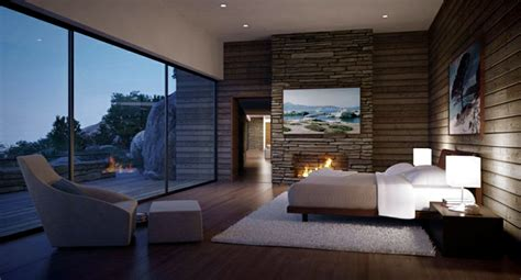 Indoor Stone Fireplace luxurious dream house with pool and stone facade