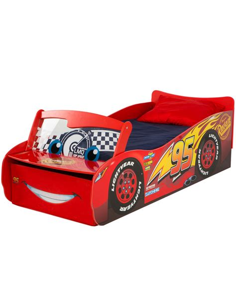 disney car bed disney cars lightning mcqueen feature toddler bed with