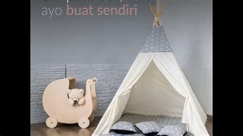 Tenda Anak Indian diy teepee tent buat sendiri tenda mainan anak di rumah