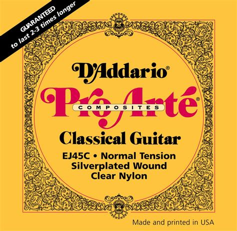 D Addario Pro Arte Strings - d addario classical guitar strings pro arte composites
