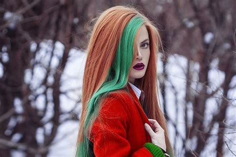 hightlight in stip of front 24 colorful hairstyles to inspire your next dye job brit