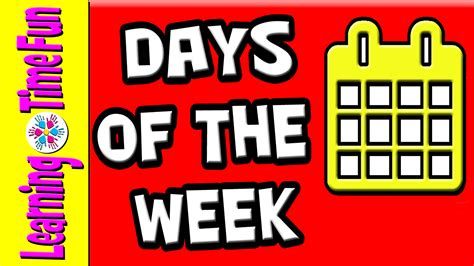 what are the 7 days of days of the week 7 days days of week week days