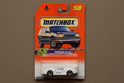 porsche matchbox matchbox 1997 series 8 porsche 911 gt 1 white