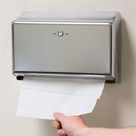 restaurant table top paper towel holder san jamar t1950xc chrome mini c fold multi fold towel