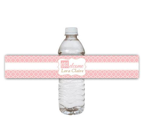 templates for water bottle labels baby shower 10 best images of printable labels for water bottles at