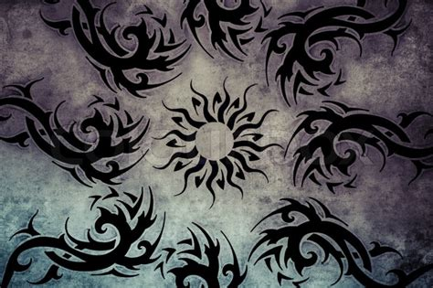 tattoo background information tribal tattoo design over grey background textured