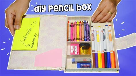 how to make pencil box diy pencil back to school