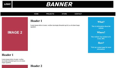 html layout navigation bar html responsive website faulty logo and banner wrap