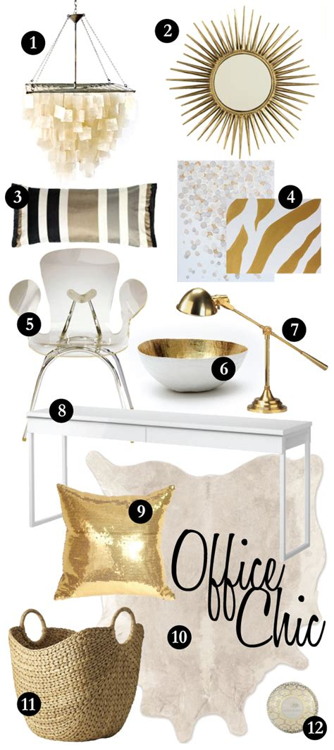 Capiz Shell Table Lamp by Urbanwalls Blog Blog Office Chic A White Amp Gold Affair