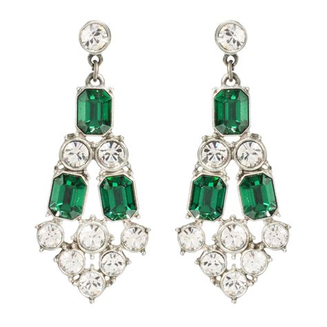 Emerald Green Chandelier Earrings Ben Amun Emerald And Chandelier Earrings In Green Emerald Lyst