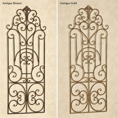 antonello indoor outdoor wrought iron wall grille - Metal Wall Grilles Decor