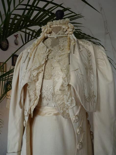 hochzeitskleid jugendstil festliches jugendstil gala oder abendkleid mit mantel ca