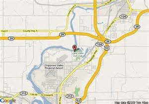 Map of holiday inn express hotel amp suites eau claire north chippewa