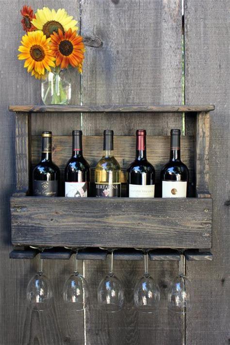 diy pallet wine rack  glass holder pallets designs