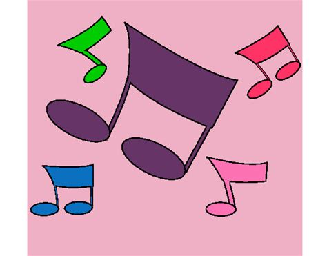 imagenes notas musicales de colores dibujo de notas de colores pintado por aylen120 en dibujos