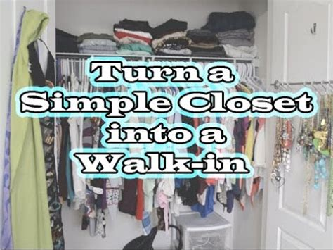 how to add a closet to a small bedroom how to turn a small closet into a walk in youtube