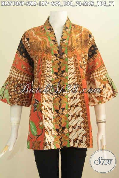 Baju Wanita Keren batik blus keren dan elegan baju kerja wanita karir berbahan adem motif klasik proses printing