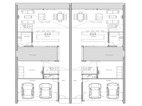 Duplex Plans by Narrow Lot Duplex House Plans Escortsea