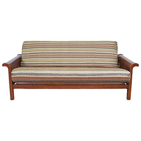 stripe futon cover loft ny brushed twill full futon cover in geometric stripe