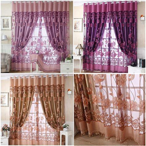 vorhang 250 lang mode 250 100 cm drucken floral t 252 r vorhang fenster