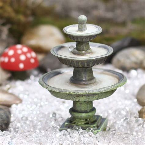 fairy garden miniature fieldstone fountain miniature resin what s new dollhouse miniatures doll supplies craft supplies