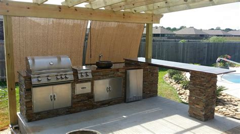 Outdoor Gas Kitchen by Outdoor Kitchens Backyard Paradise