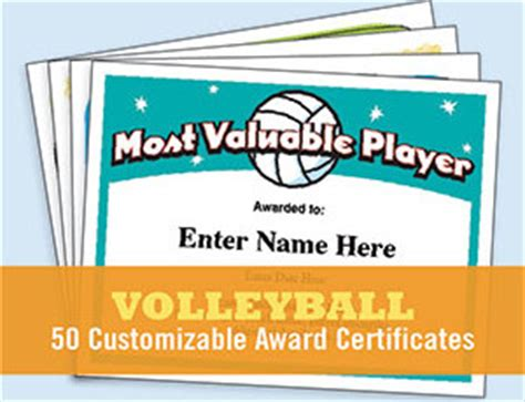 free printable volleyball award certificate templates free certificates templates awards for sports biz and more