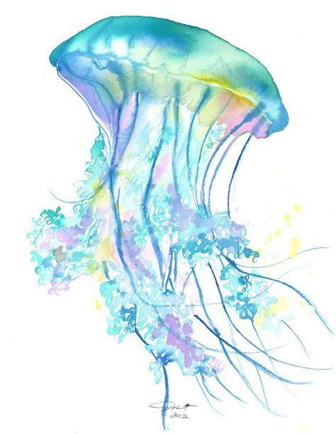 watercolor tattoos jellyfish 25 best ideas about watercolor jellyfish on