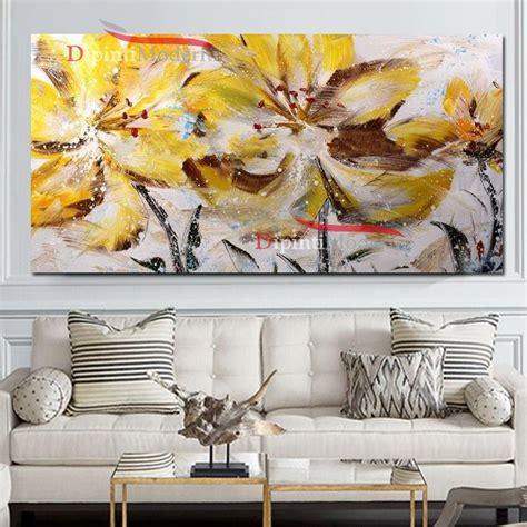 quadro fiori moderno quadro su tela moderno fiori gialli dipinti moderni