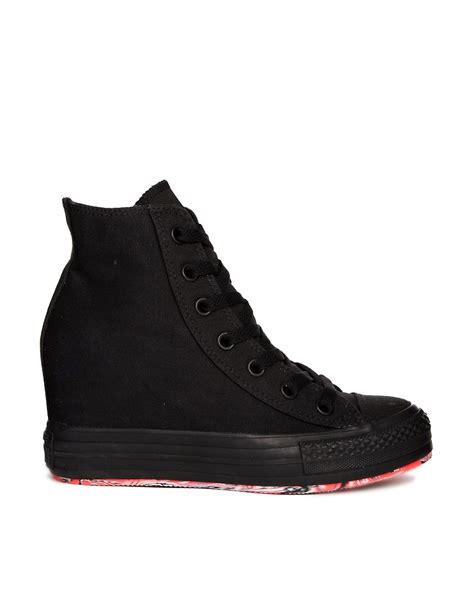 converse wedges sneakers converse converse chuck all wedge black