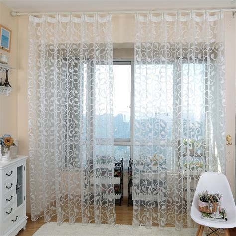 kitchen curtains modern european style rustic sheer rideau jacquard modern tulle curtain drape for kitchen in curtains