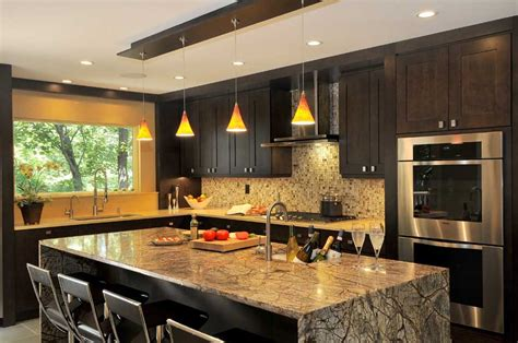 orange pendant lights kitchen 50 modern kitchen lighting ideas for your kitchen island