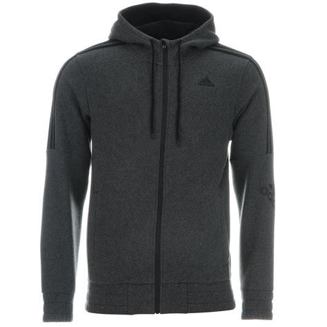 Switer Sweater Jaket Sweatshirt Realmadrid adidas 3 stripe logo zip hoody mens grey black