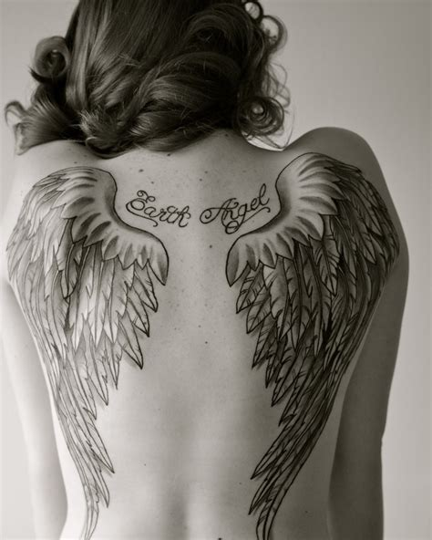 tattoo of angel wings angel wing tattoo tattoos pinterest