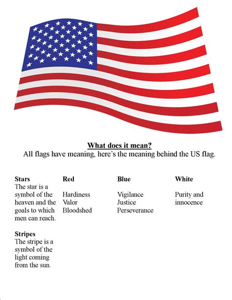 each color on the american flag represent go
