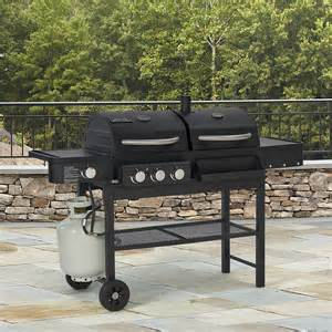 Backyard Grill Gas Charcoal Combination Grill Smoke Hollow Combo Gas Charcoal Grill With Side Burner
