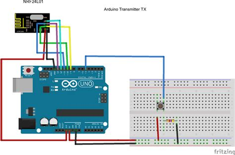 arduino code nrf24l01 wireless connection between micro controllers using