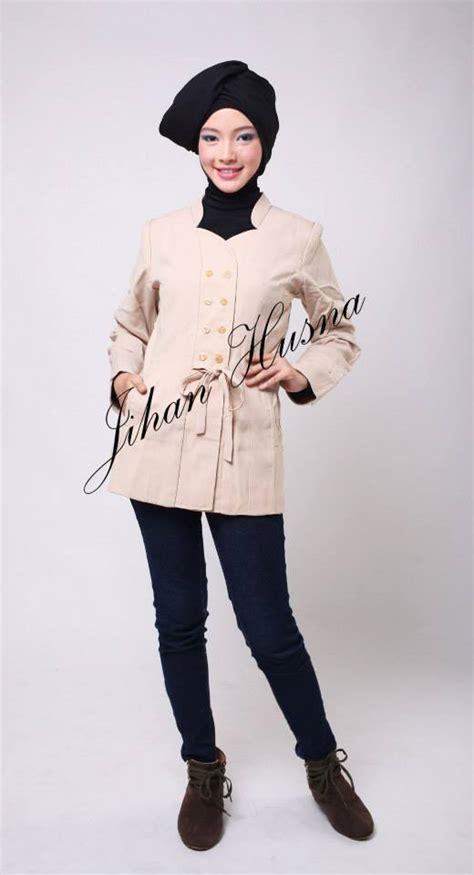 desain dress jihan husna atasan kerja wanita jas 01 jihanhusna spesialis rumah