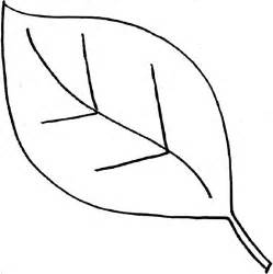 simple leaf template simple leaf outline clipart best