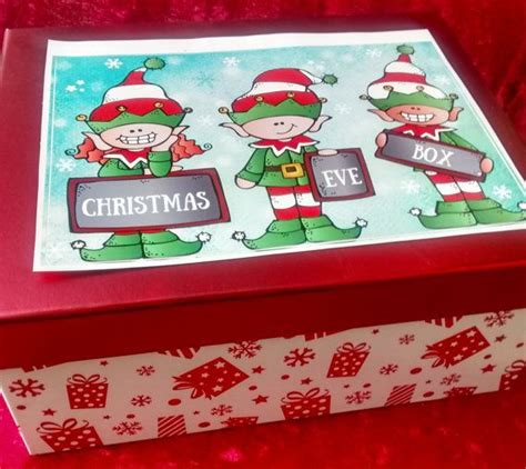 decorated christmas boxes ideas christmas eve box decorated with christmas elf by