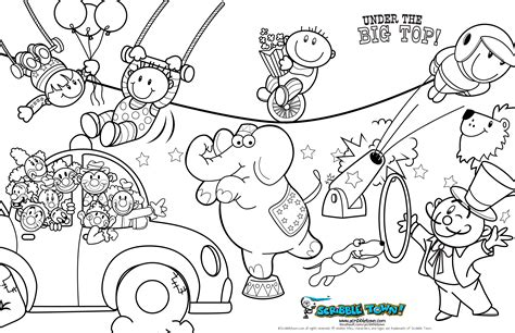 circus coloring pages coloring pages printable
