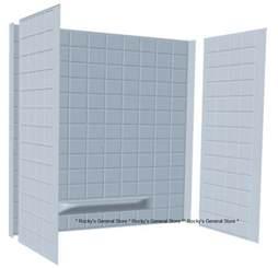 tub surround 3 tiled bath tub shower wall enclosure