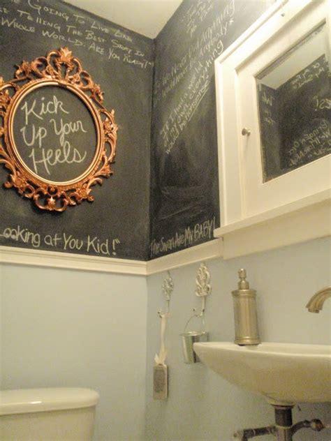 chalkboard paint bathroom writing on the bathroom walls encouraged chalkboard