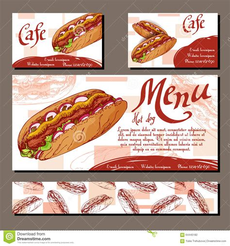 hot hot restaurant menu cafe menu with hand drawn design fast food restaurant