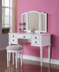 Drawer vanity set with mirror and stool modern kids bedroom vanities