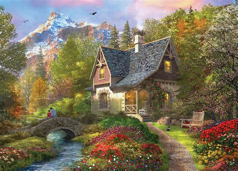Perre Mountain Cabin 500 Pieces 1 puzzle dominic davison nordic morning eurographics 8000 0966 1000 pieces jigsaw puzzles