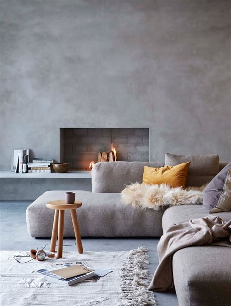 exposed concrete walls ideas inspiration best 25 grey sofa decor ideas on pinterest